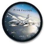 """Aircraft Wall Clocks 10"""" - F16 Falcon"""