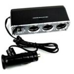 Cigarette Lighter USB 3 Way Charger/Power Supply