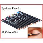 Eyeliner Lipliner Pencils Waterproof 12pk