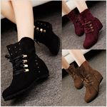 Faux Suede Boots with Internal Heel