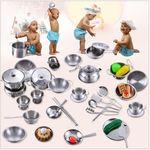 Kitchen Toy Set - 19pc Stainless Steel