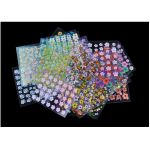 Floral Design 3D Nail Art Stickers - 50 Sheets