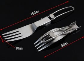 Folding Cutlery Set - Stainless Steel