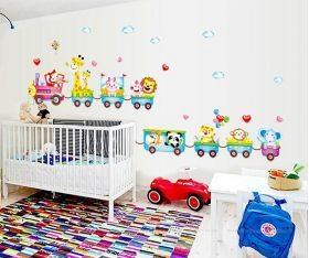 Childrens Bedroom Wall Decal Train