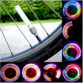 Bicycle Wheel Tire Valve Neon 5 LED Lights