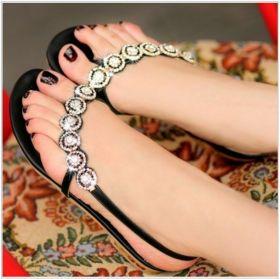 Bohemia Beaded Rhinestone Sandals
